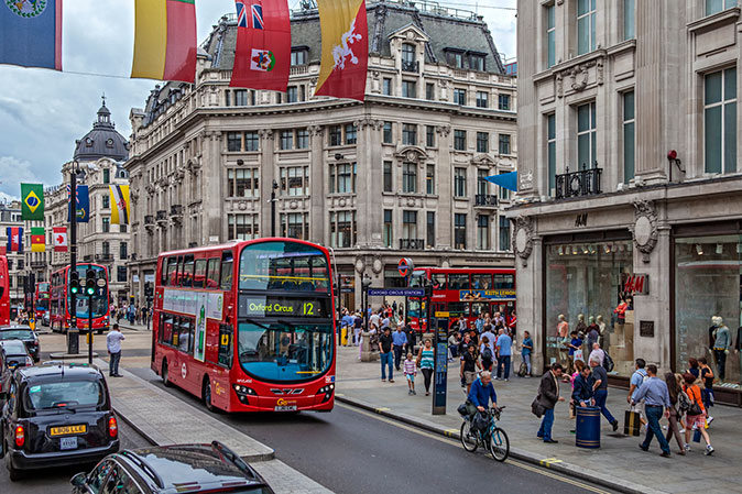 Oxford Street, a main hub of international business in London