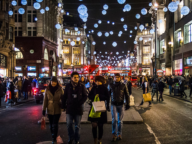 Oxford Street, the most famous retail business cluster in London