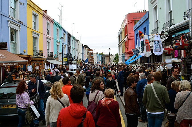 The antiques market at Portobello Road