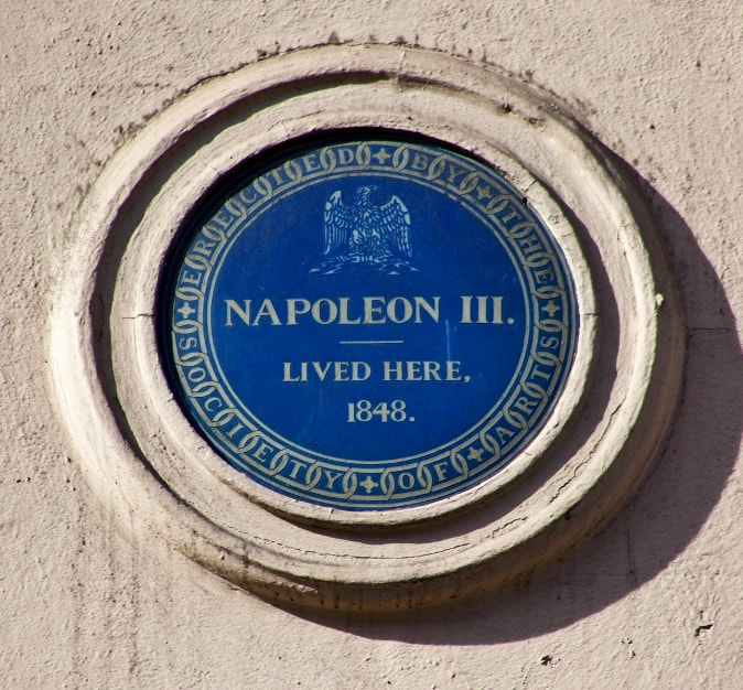 Napoleon's Blue Plaque in London
