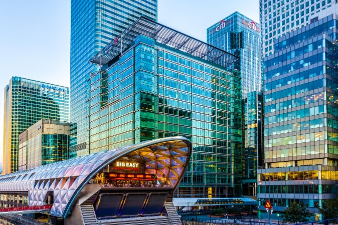 Canary Wharf's Crossrail station