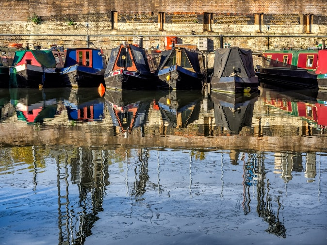 Houseboats in Hackney